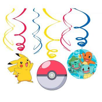 Lot de 6 suspensions Pokémon