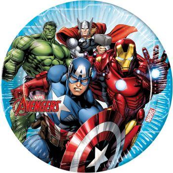 Lot de 8 assiettes Avengers 23cm