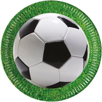 Lot de 8 assiettes Football 23cm