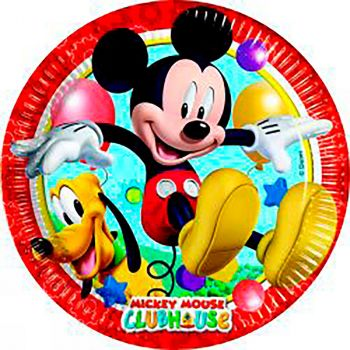 Lot de 8 assiettes Mickey carton 23cm