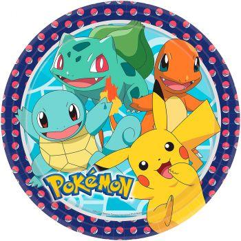 Lot de 8 assiettes Pokémon 22.8cm