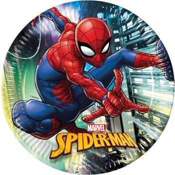 Lot de 8 assiettes spider man 23cm