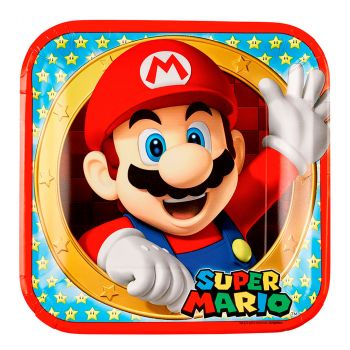 Lot de 8 assiettes super mario 23cm