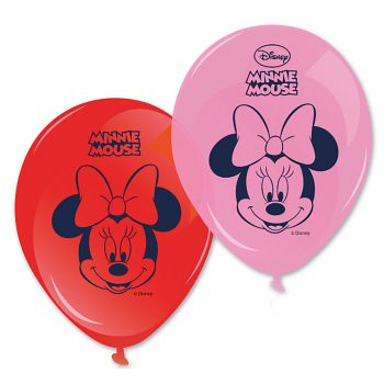 Lot de 8 ballons minnie