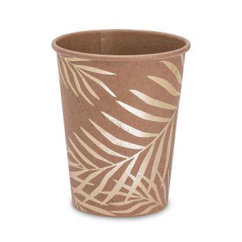 Lot de 8 gobelets kraft palmier d'or
