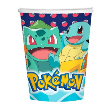 Lot de 8 gobelets pokémon 250ml