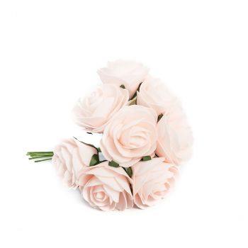 Roses en mousse 15cm x8 rose