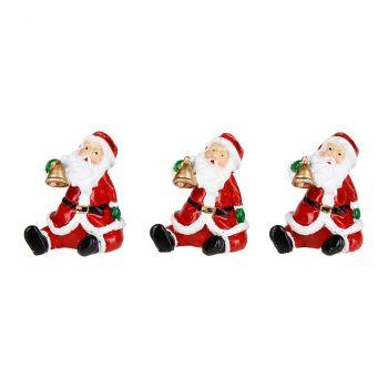 Marque place Père Noël résine H5cm x4