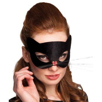 Masque loup chat noir