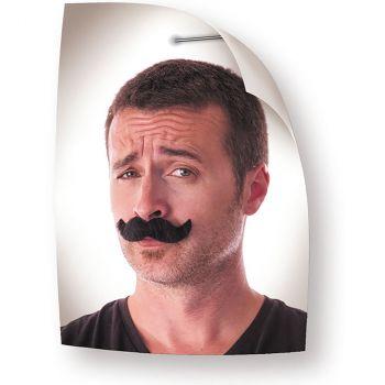 Moustache classique noir