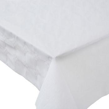Nappe damasé 1.18x50m blanche
