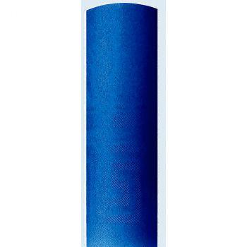 Nappe damassé 1.18x25m bleu vif