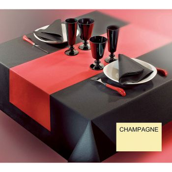 Nappe voie sèche 1.20x25m champagne