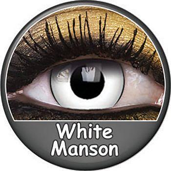 Paire de lentilles blanc manson