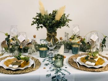 Table Pampas & Eucalyptus