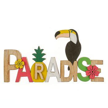 Paradise en bois multicolor 20x10.5cm