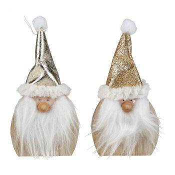Père Noël bonnet pompon H16cm
