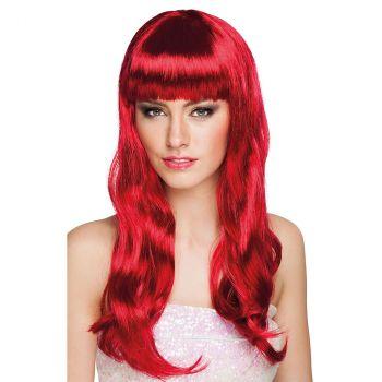 Perruque chique rubis rouge