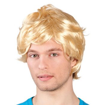 Perruque homme blond