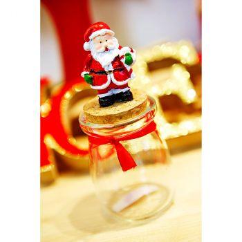 Pot verre Père Noël rouge