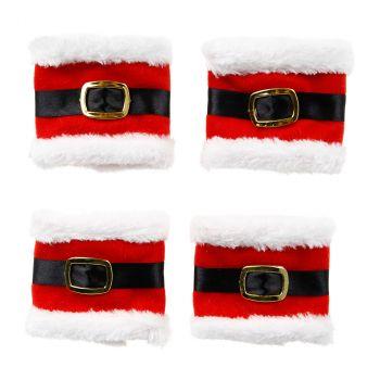 Rond de serviette Noël 7x19cm x4