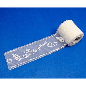 Rouleau floque mariés  8cmx10m blanc