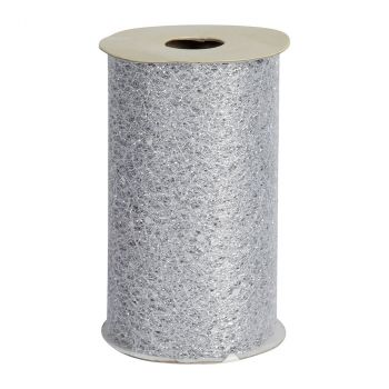 Ruban de table glitter 10cmx5m argent