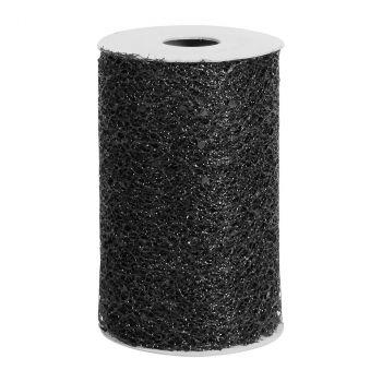 Ruban de table glitter 10cmx5m noir