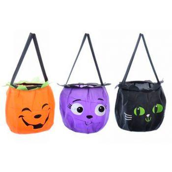 Sac à bonbons halloween 20cm 3 modèles au choix