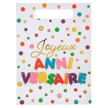 Sac x10 anniversaire multicolore
