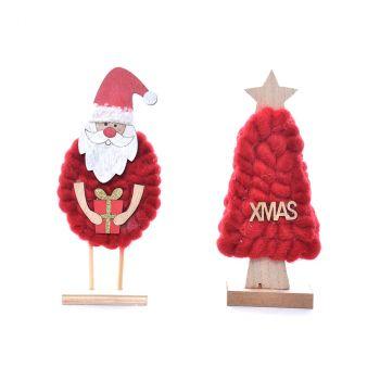 Sapin Père Noël laine H19cm