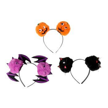 Serre-tête boule de poil halloween 3 modèles au choix