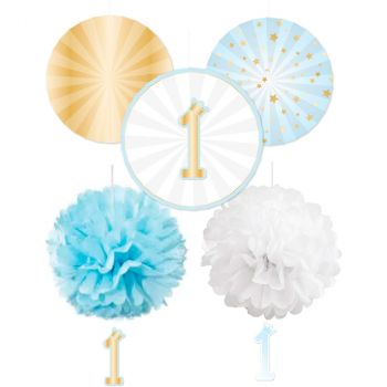 Set décoration 1an bleu