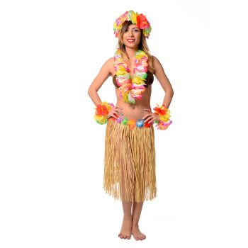 Set Hawai fleurs d'hibiscus multicolore