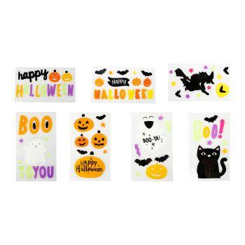 Stickers de décoration fenêtre Halloween 8 modèles au choix
