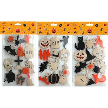 Stickers Halloween bois/feutrine x12