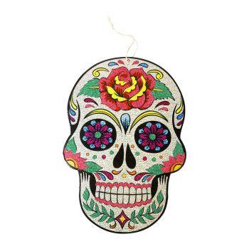 Suspension tête de mort halloween 40x28cm