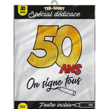 T-shirt on signe 50ans