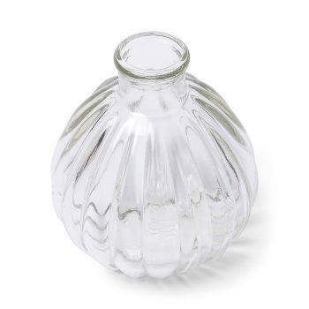 Vase boule en verre retro 9,5cm