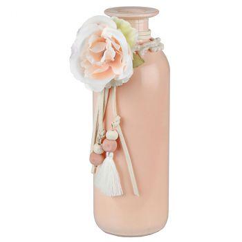 Vase rose poudré 16cm